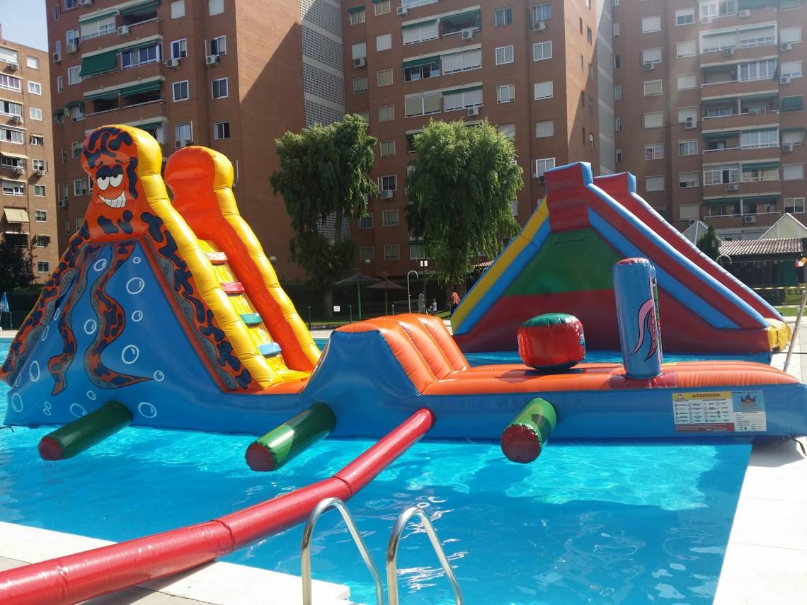 Pasarelas hinchables para piscinas ideales para divertirte en verano dieser - Hinchables de agua para piscinas ...