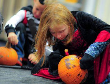 Fiesta de Halloween con hinchables