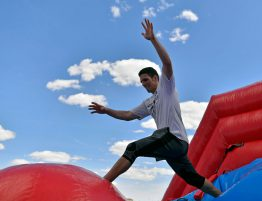 wipeout hinchable con Dieserso